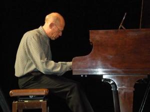 David Helfgott playing piano in Albury, NSW