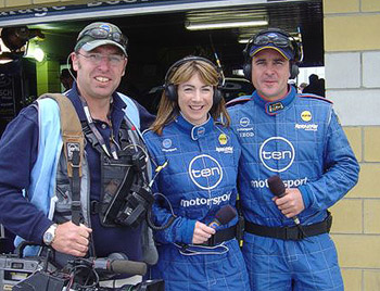Kylie, David, Daryl in Pitlane for TEN Motorsport